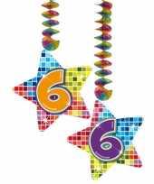 Hangdecoratie verjaardag 6 jaar