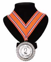 Holland medaille nr 2 halslint oranje rood wit blauw
