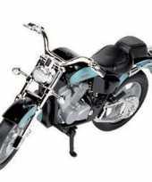 Honda shadow speelgoed blauwe motor