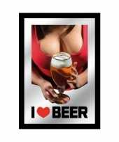 Horeca wandspiegel i love beer 10059611