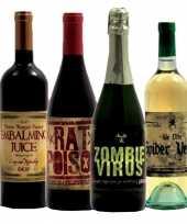 Horror flessen etiketten