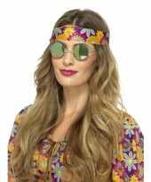 Jaren 60 bril groene spiegelglazen voor volwassenen