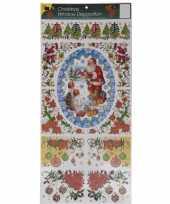 Kerst decoratie raamstickers met glitters type 3