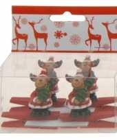 Kerstknijper met rendier 4x 10074589