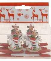 Kerstknijper met rendier 4x