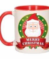 Kerstman melk mok beker voor kerst 300 ml