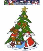 Kerstman raamsticker herbruikbaar 10062318