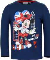 Kindershirt minnie mouse blauw 10076455