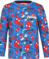 Kindershirt spiderman blauw
