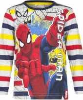 Kindershirt spiderman gestreept
