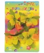 Klemmetjes met gekleurde bloemen voor tafelkleed 4 stuks