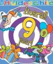 Kleurig huldebord 9 jaar