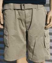Korte broek voor heren beige