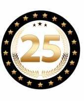 Luxe 25 zilveren jubileum bierviltjes