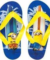 Minions kids slippers surf blauw geel