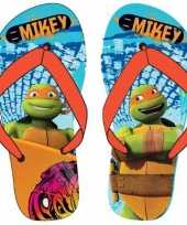Ninja turtles kids slippers michaelangelo