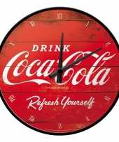 Nostalgische wandklok coca cola