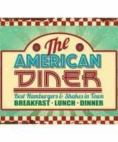 Ouderwetse wandplaat american diner