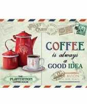 Ouderwetse wandplaat koffie thema 15 x 20 10085218