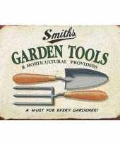 Ouderwetse wandplaat tuin garden tools 30 x 40