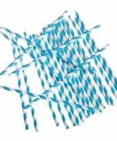 Papieren rietjes turquoise