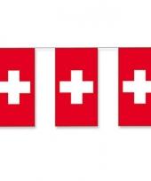 Papieren vlaggenlijnen zwitserland
