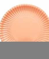 Perzik kleur barbecue borden 23 cm
