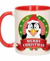 Pinguin melk mok beker voor kerst 300 ml