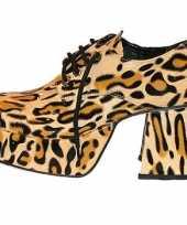 Plateau schoenen in luipaard print