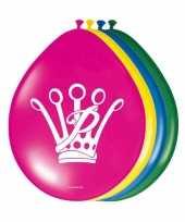 Prinsessen verjaardag ballonnen 8 stuks