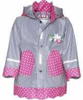 Regenjas voor meisjes ruit stip