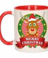 Rendier rudolf melk mok beker voor kerst 300 ml