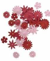 Rood roze knutsel bloemen van papier 36 stuks