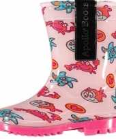 Roze laarzen voor peuters met zeedieren