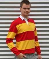 Rugbyshirts in het rood met geel