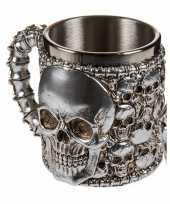 Rvs mok met skulls 10075215