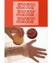 Schmink sjabloon voor uw lichaam ornament met hart