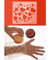 Schmink stencil voor hartjes