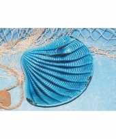 Serveer schaal in vorm van een schelp 21 cm