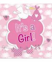 Servetten geboorte meisje 20 stuks