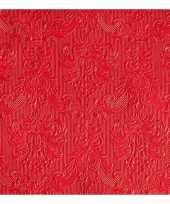Servetten rood barok 3 laags 15 stuks