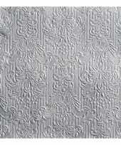 Servetten zilveren barok 3 laags 15 stuks