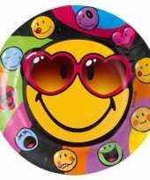 Smiley thema bordjes 8 stuks