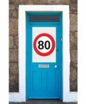 Snelheidsbord 80 jaar mega poster