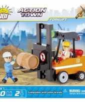 Speelgoed bouw heftruck bouwstenen set