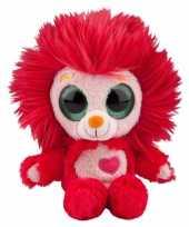 Speelgoed leeuwen knuffel rood 20 cm