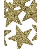 Sterren decoratie met glitters 5 cm