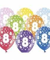 Sterretjes ballonnen 8e verjaardag
