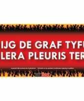 Sticky devil stickers tekst graf tyfus cholera pleuristering
