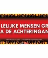 Sticky devil stickers tekst lelijke mensen